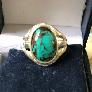 Jewelry - Sterling 925 Silver Turquoise Ring